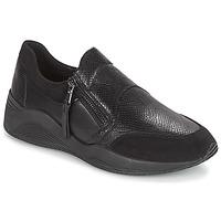 Sko Dame Lave sneakers Geox D OMAYA Sort