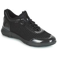 Sko Dame Lave sneakers Geox D NEBULA X Sort