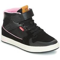 Sko Pige Høje sneakers Kickers GREADY MID CDT Sort / Pink