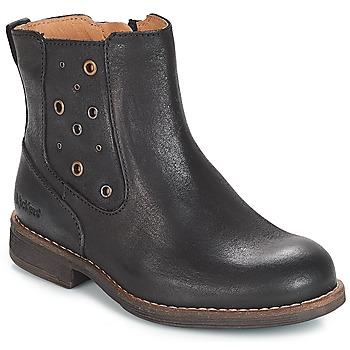 Sko Pige Chikke støvler Kickers SMAD Sort