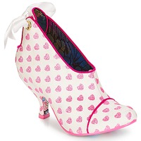 Sko Dame Lave støvletter Irregular Choice Love is all around Hvid / Pink