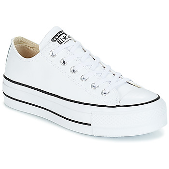 Sko Dame Lave sneakers Converse CHUCK TAYLOR ALL STAR LIFT CLEAN OX Hvid