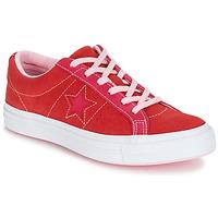 Sko Dame Lave sneakers Converse ONE STAR OX Rød / Pink