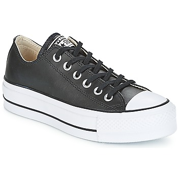 Sko Dame Lave sneakers Converse CHUCK TAYLOR ALL STAR LIFT CLEAN OX Sort / Hvid
