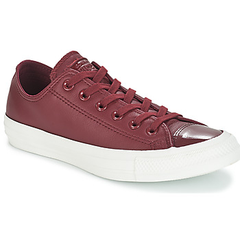 Sko Dame Lave sneakers Converse CHUCK TAYLOR ALL STAR LEATHER OX Bordeaux