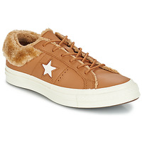 Sko Dame Lave sneakers Converse ONE STAR LEATHER OX Kamel