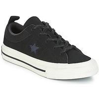 Sko Børn Lave sneakers Converse ONE STAR NUBUCK OX Sort / Hvid