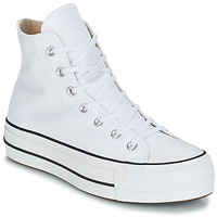 Sko Dame Høje sneakers Converse CHUCK TAYLOR ALL STAR LIFT CANVAS HI Hvid
