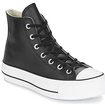 Sko Dame Høje sneakers Converse CHUCK TAYLOR ALL STAR LIFT CLEAN LEATHER HI Sort