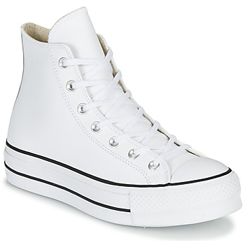 Sko Dame Høje sneakers Converse CHUCK TAYLOR ALL STAR LIFT CLEAN LEATHER HI Hvid