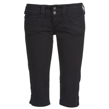 textil Dame Halvlange bukser Pepe jeans VENUS CROP Sort