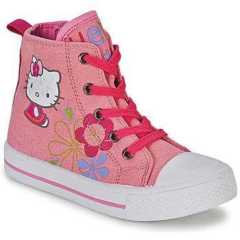 Sko Pige Høje sneakers Hello Kitty LONS Pink