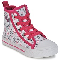 Sko Pige Høje sneakers Hello Kitty LYNDA Hvid