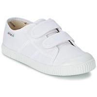 Sko Børn Lave sneakers Victoria BLUCHER LONA DOS VELCROS Hvid