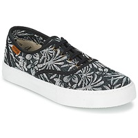 Sko Dame Lave sneakers Victoria INGLES ESTAP HOJAS TROPICAL Sort