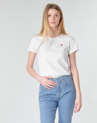 textil Dame T-shirts m. korte ærmer Levi's PERFECT TEE Hvid