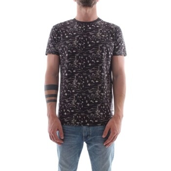 textil Herre T-shirts m. korte ærmer Scotch & Soda 142671 Black / Gray