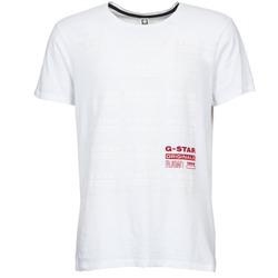 textil Herre T-shirts m. korte ærmer G-Star Raw RITZIEN Hvid