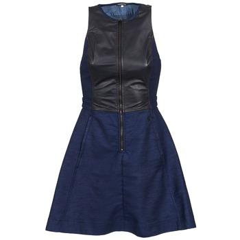 textil Dame Korte kjoler G-Star Raw SUTZIL DRESS Marineblå / Sort