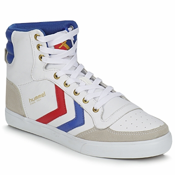 Sko Høje sneakers Hummel STADIL HIGH Hvid / Blå / Rød