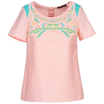textil Dame Toppe / Bluser Color Block ADRIANA Pink