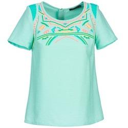 textil Dame Toppe / Bluser Color Block ADRIANA Blå
