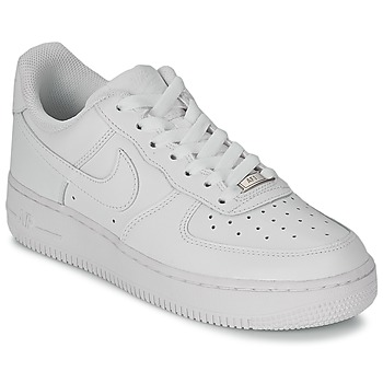 Sko Dame Lave sneakers Nike AIR FORCE 1 07 LEATHER W Hvid