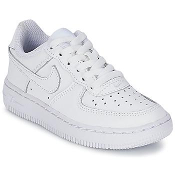 Sko Børn Lave sneakers Nike AIR FORCE 1 Hvid