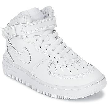 Sko Børn Høje sneakers Nike AIR FORCE 1 MID Hvid
