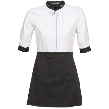 textil Dame Korte kjoler La City COLUMBA Sort / Hvid