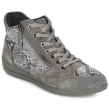 Sko Dame Lave sneakers Geox D MYRIA Grå / Mørk
