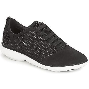 Sko Dame Lave sneakers Geox D NEBULA Sort