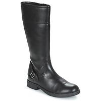 Sko Pige Chikke støvler Geox JR SOFIA Sort