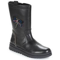 Sko Pige Chikke støvler Geox J GILLYJAW GIRL Sort