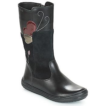 Sko Pige Chikke støvler Geox J HADRIEL Sort