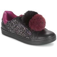 Sko Pige Lave sneakers Geox J DJROCK GIRL Sort / Violet