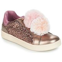 Sko Pige Lave sneakers Geox J DJROCK GIRL Beige / Pink
