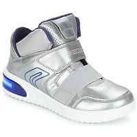 Sko Pige Høje sneakers Geox J XLED GIRL Sølv
