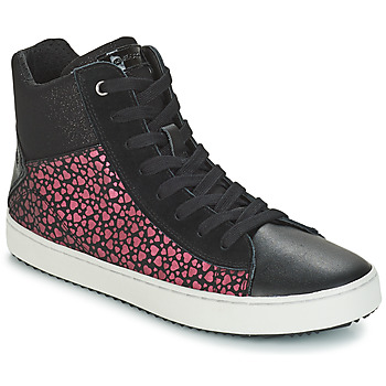 Sko Pige Høje sneakers Geox J KALISPERA GIRL Sort / Pink
