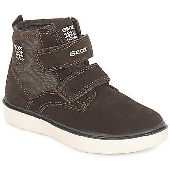 Sko Dreng Høje sneakers Geox J RIDDOCK BOY Brun / Marineblå