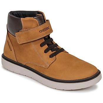 Sko Dreng Høje sneakers Geox J RIDDOCK BOY WPF Brun