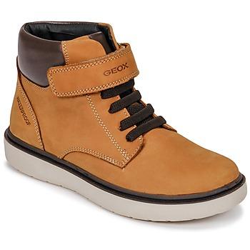 Sko Dreng Høje sneakers Geox J RIDDOCK BOY WPF Gul