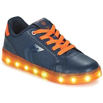 Sko Dreng Lave sneakers Geox J KOMMODOR BOY Marineblå / Orange