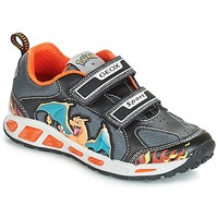 Sko Dreng Lave sneakers Geox J SHUTTLE BOY Sort / Orange