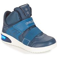 Sko Dreng Høje sneakers Geox J XLED BOY Marineblå