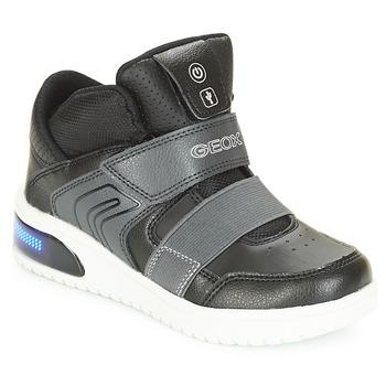 Sko Dreng Høje sneakers Geox J XLED BOY Sort