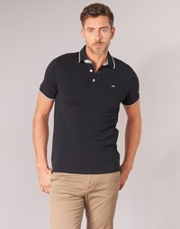 textil Herre Polo-t-shirts m. korte ærmer Jack & Jones JJEPAULOS Sort