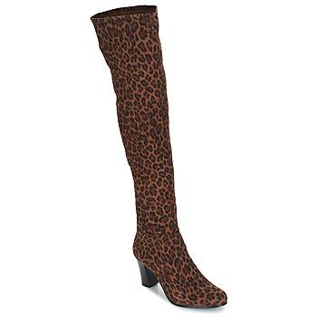 Sko Dame Chikke støvler André PRISCA 3 Leopard
