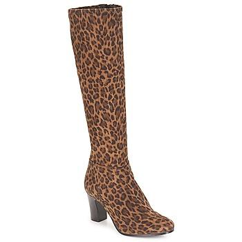 Sko Dame Chikke støvler André GANTELET 4 Leopard