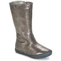 Sko Pige Chikke støvler André SCINTILLANTE Sølv
